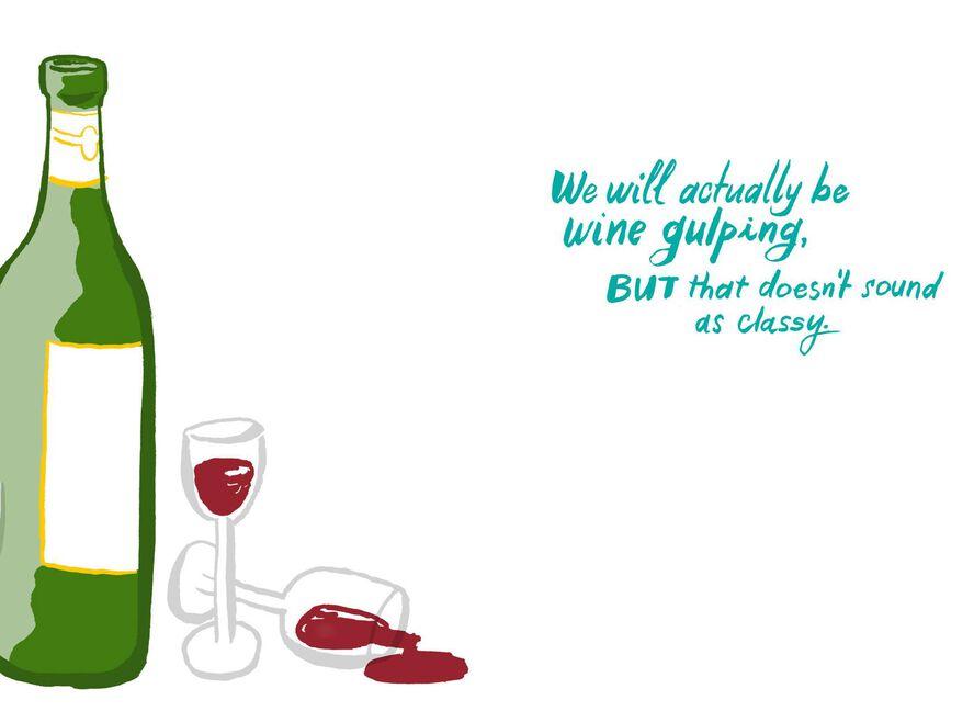 let s go wine tasting funny birthday card greeting cards hallmark