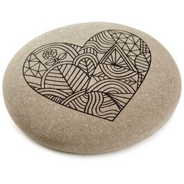 Heart DIY Coloring Rock, , large