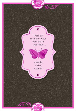 Purple Butterfly Anniversary Card