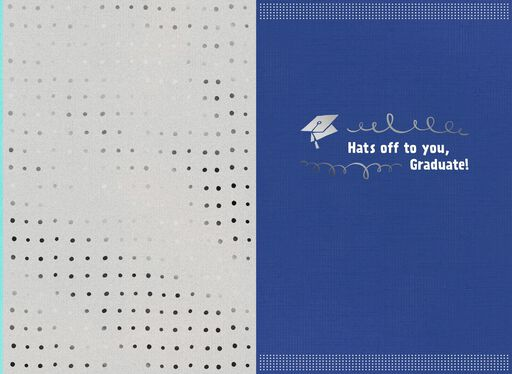 Hats Off to You Graduation Card,