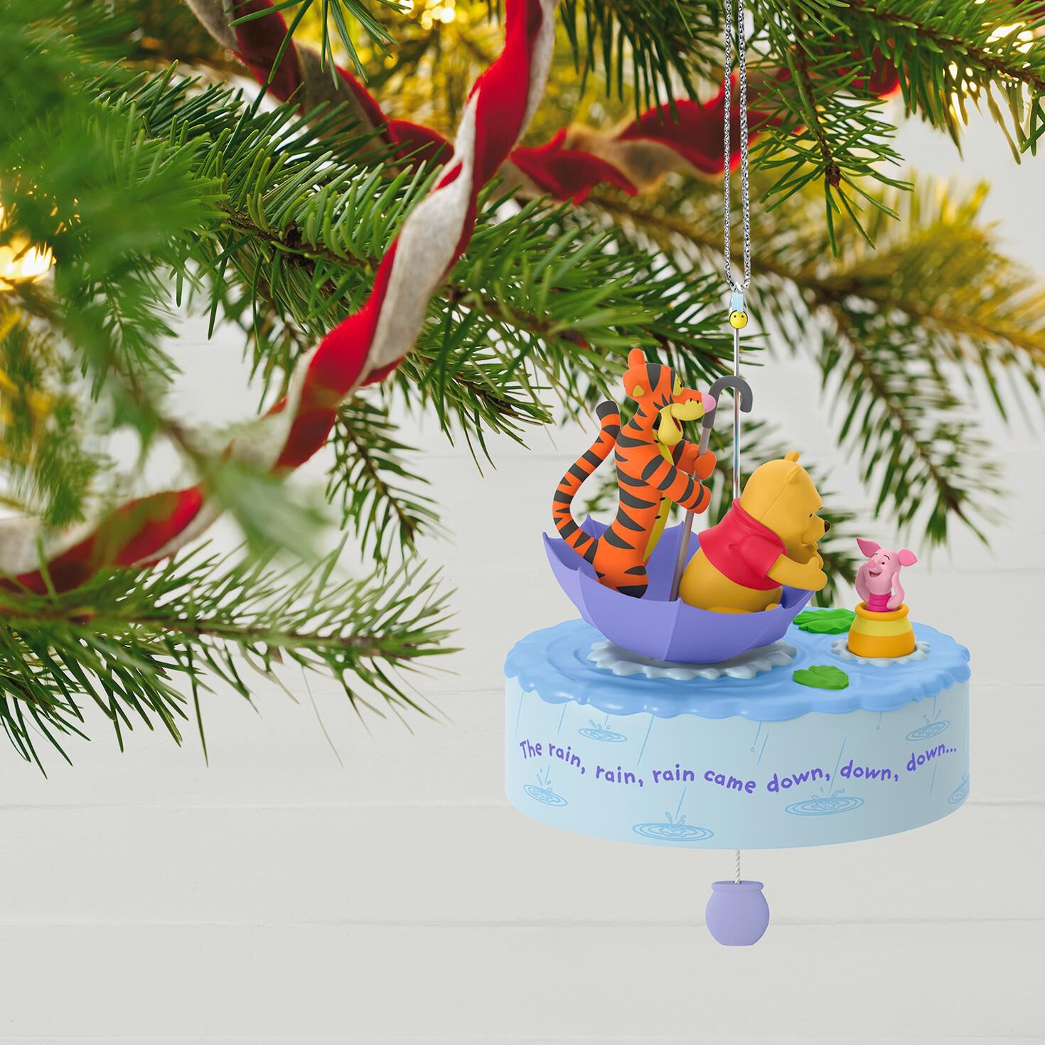 Winnie the Pooh A Blustery Day Musical Ornament With Motion ...