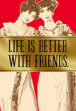 Friends and Wine Funny Valentine's Day Card