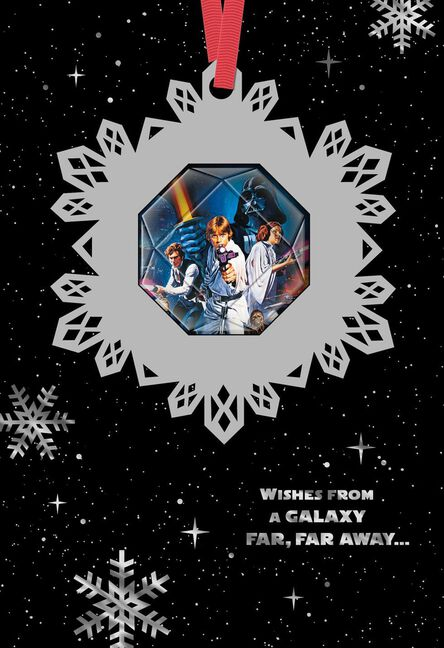 Star wars seasons greetings christmas card with ornament m4hsunfo