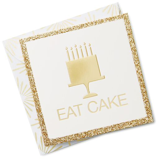 103c07090a78 Gold Eat Cake Gift Tag With Envelope