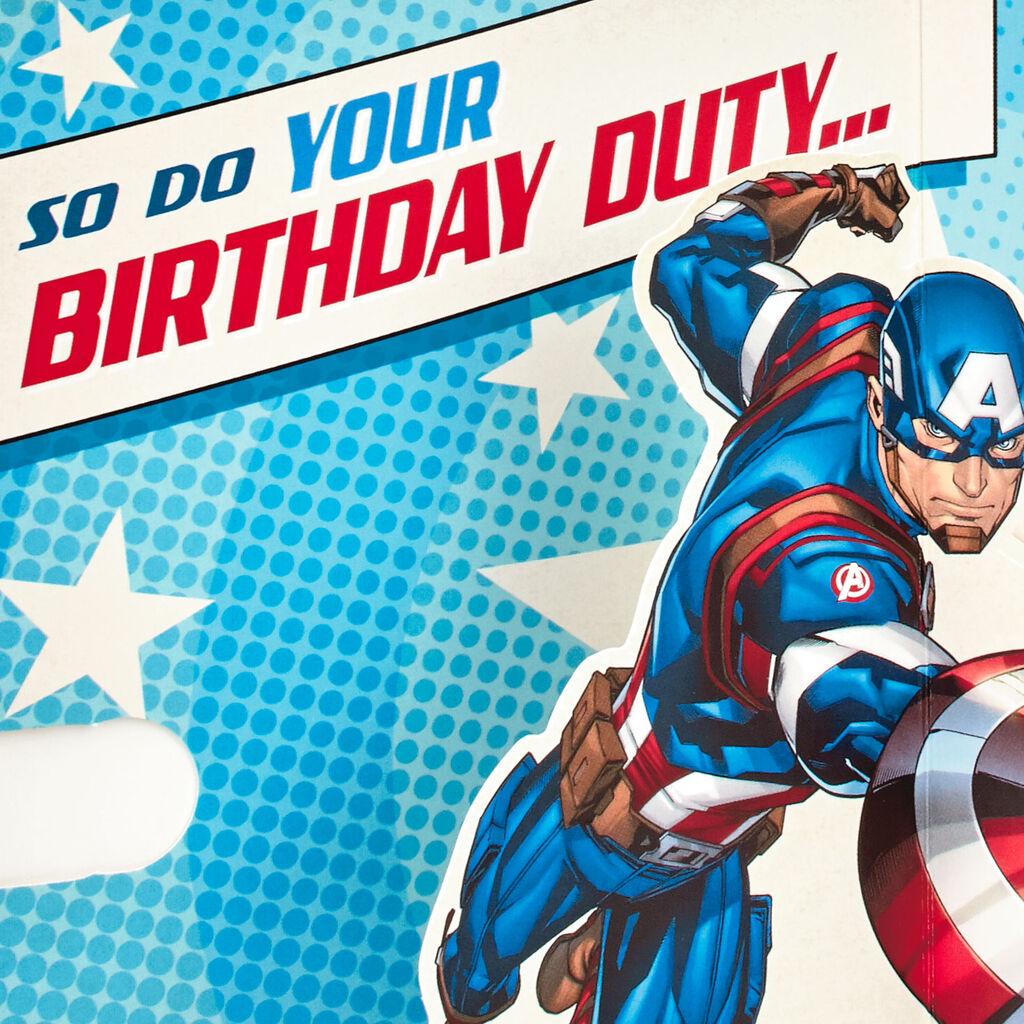 avengers birthday card  card design template