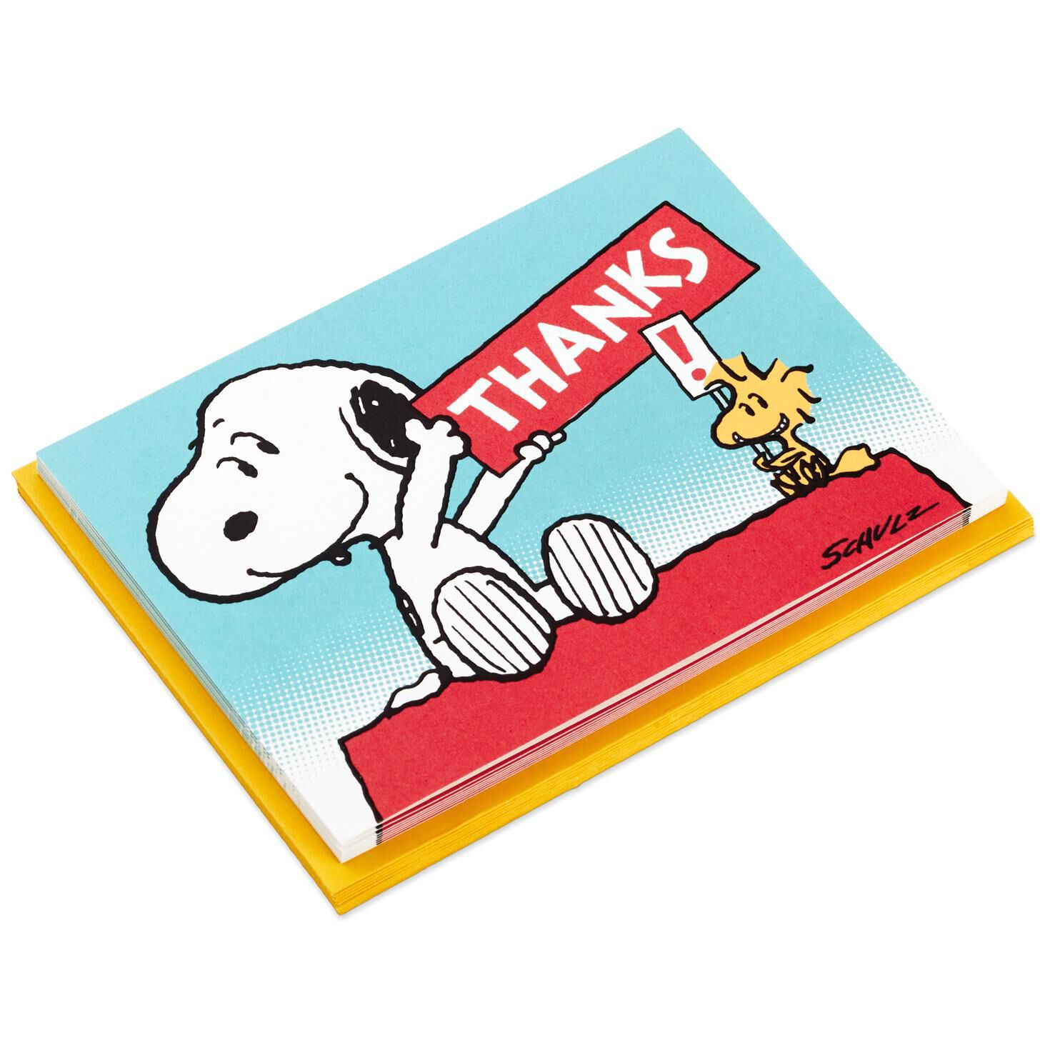 Peanuts Snoopy And Woodstock Blank Thank You Notes Pack Of 10