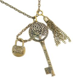 Good Work(s) Favored John 15:7 Necklace, Gold, large