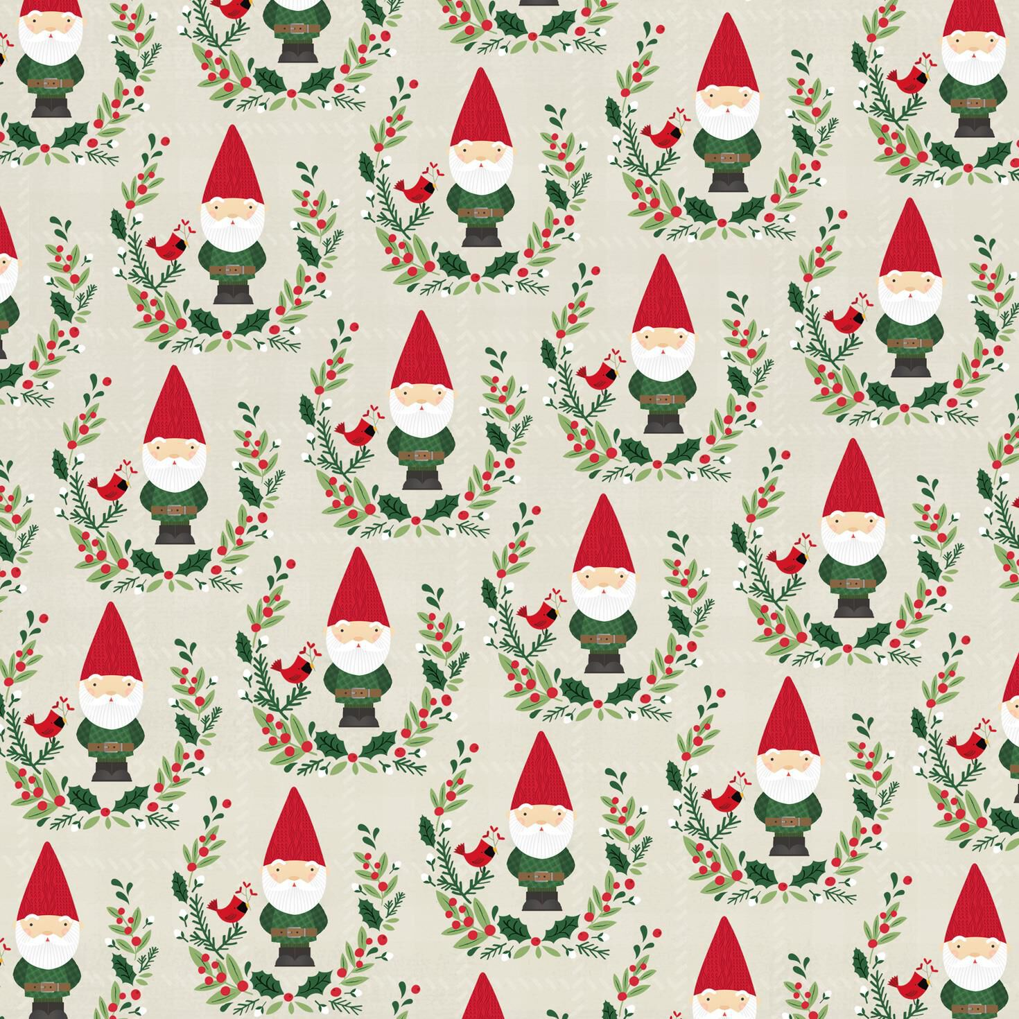 gnomes jumbo christmas wrapping paper roll 100 sq ft wrapping paper hallmark - Cheap Christmas Wrapping Paper