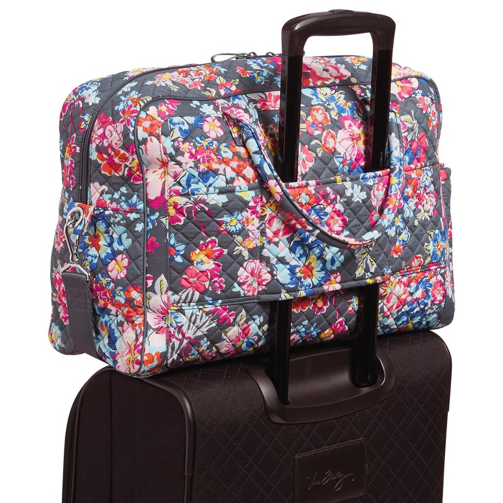 Vera Bradley Iconic Weekender Travel Bag in Pretty Posies - Travel ... 08f1cede62854