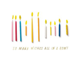 Candles So Many Wishes Birthday Card,