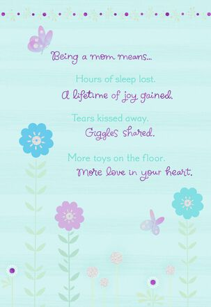 What Being a Mom Means, Mother's Day Card-to-Be