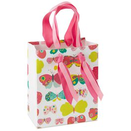 "Butterflies Small Gift Bag, 6.5"", , large"