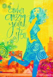 Amazing Year of You Birthday Card for Her,