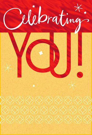 Celebrating You Lettering Birthday Card