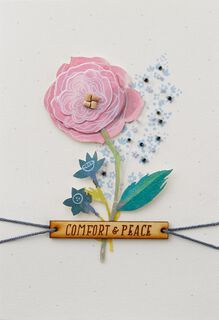 Flowers Comfort and Peace Sympathy Card,