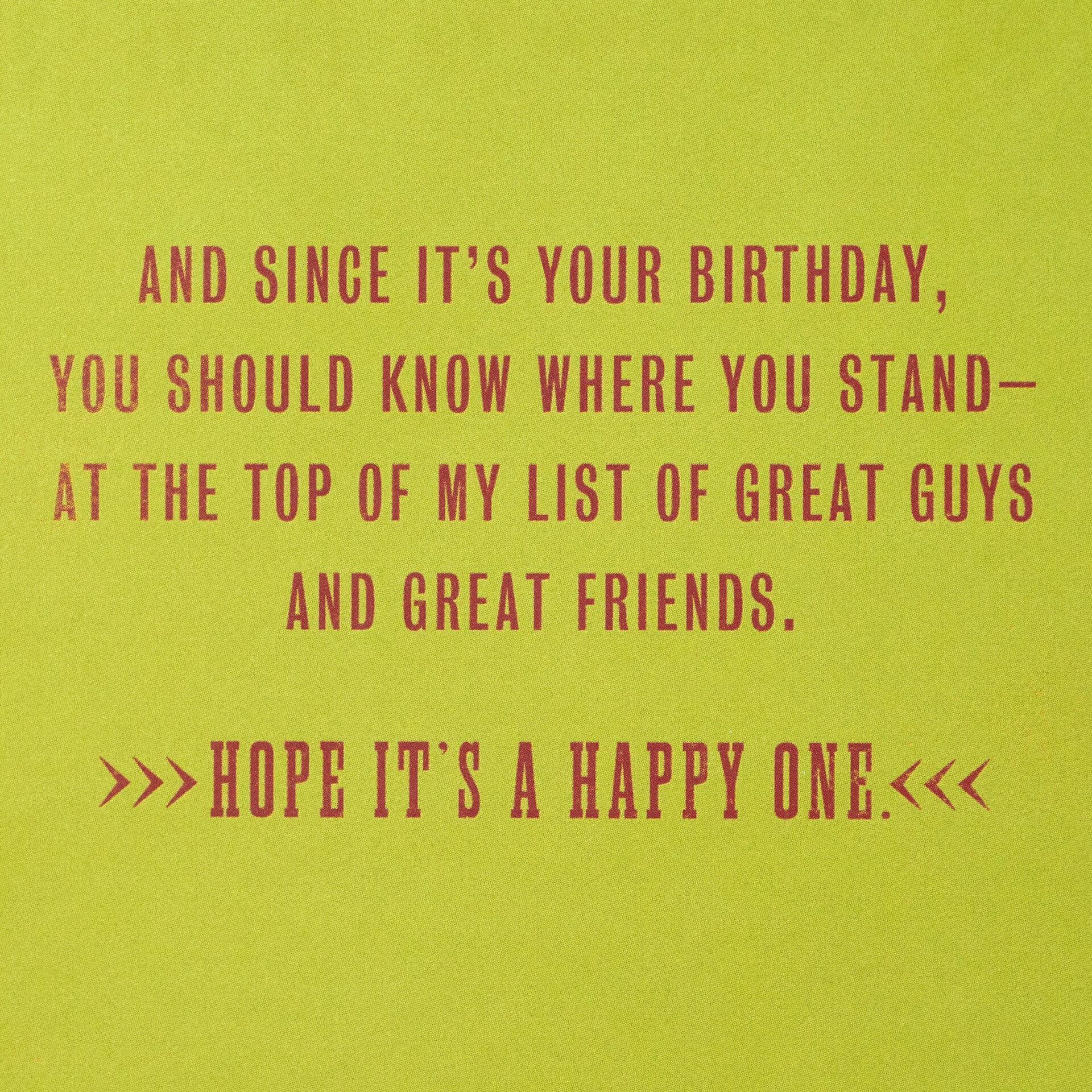 Tough Guy Great Friend Birthday Card Greeting Cards Hallmark