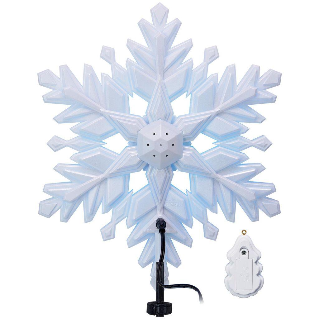 stunning snowflake musical tree topper with light keepsake