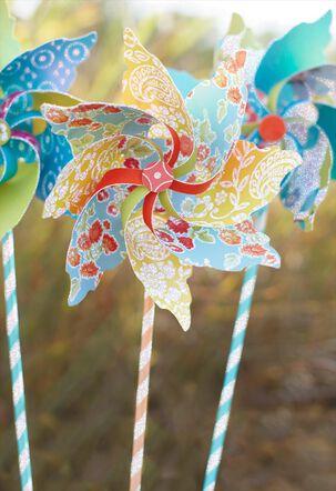 Whimsical Pinwheels Blank Card