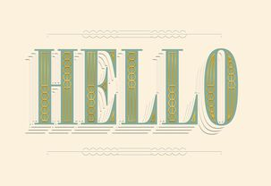 Hello Blank Thinking of You Card