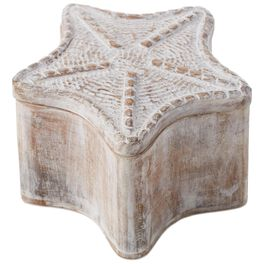 Starfish-Shaped Wood Box, , large