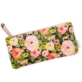 Haute Girls™ Paradise Floral and Leopards Pencil Pouch, , large