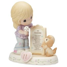 Precious Moments® Growing in Grace—Age 11 Blonde Girl Porcelain Figurine, , large