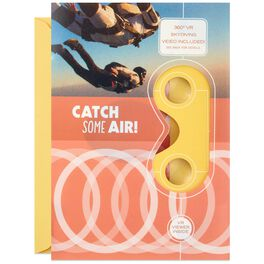 Catch Some Air Skydiving VR Birthday Card, , large