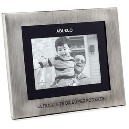 Abuelo Silver and Black Picture Frame, 4x6, , large