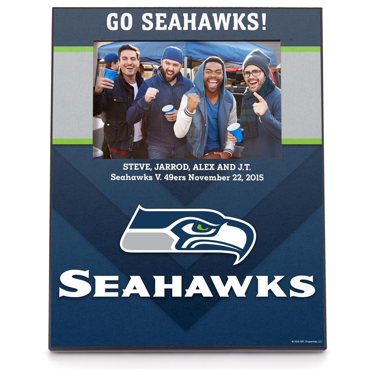 Seattle seahawks personalized 4x6 photo frame personalized home seattle seahawks personalized 4x6 photo frame personalized home decor hallmark jeuxipadfo Choice Image