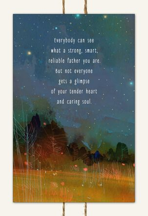 Starlit Woods Romantic Father's Day Card