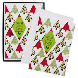 Cheers to the Season Christmas Cards, Box of 16, , large