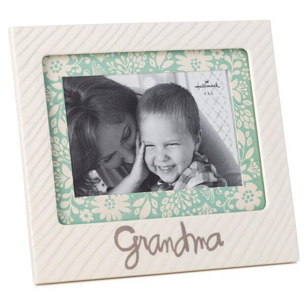 grandma ceramic picture frame 4x6