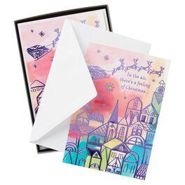 Santa Flyover Christmas Cards, Box of 12, , large