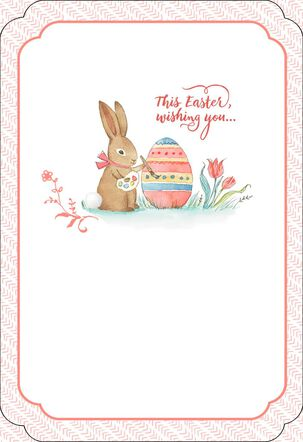 Bunny Painting Egg Easter Card