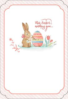 Bunny Painting Egg Easter Card,