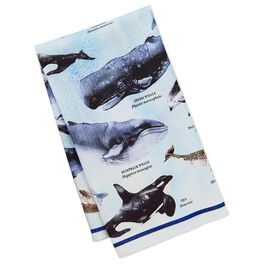 Cedar Cove Whale Tea Towel, , large