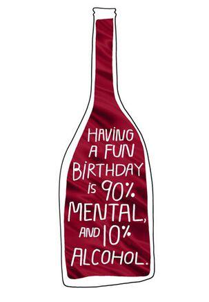 Mental or Alcohol? Birthday Card