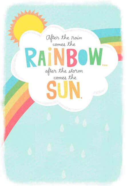 After The Rain Comes The Rainbow Get Well Card Greeting Cards