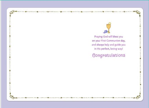Your Special Day First Communion Card,