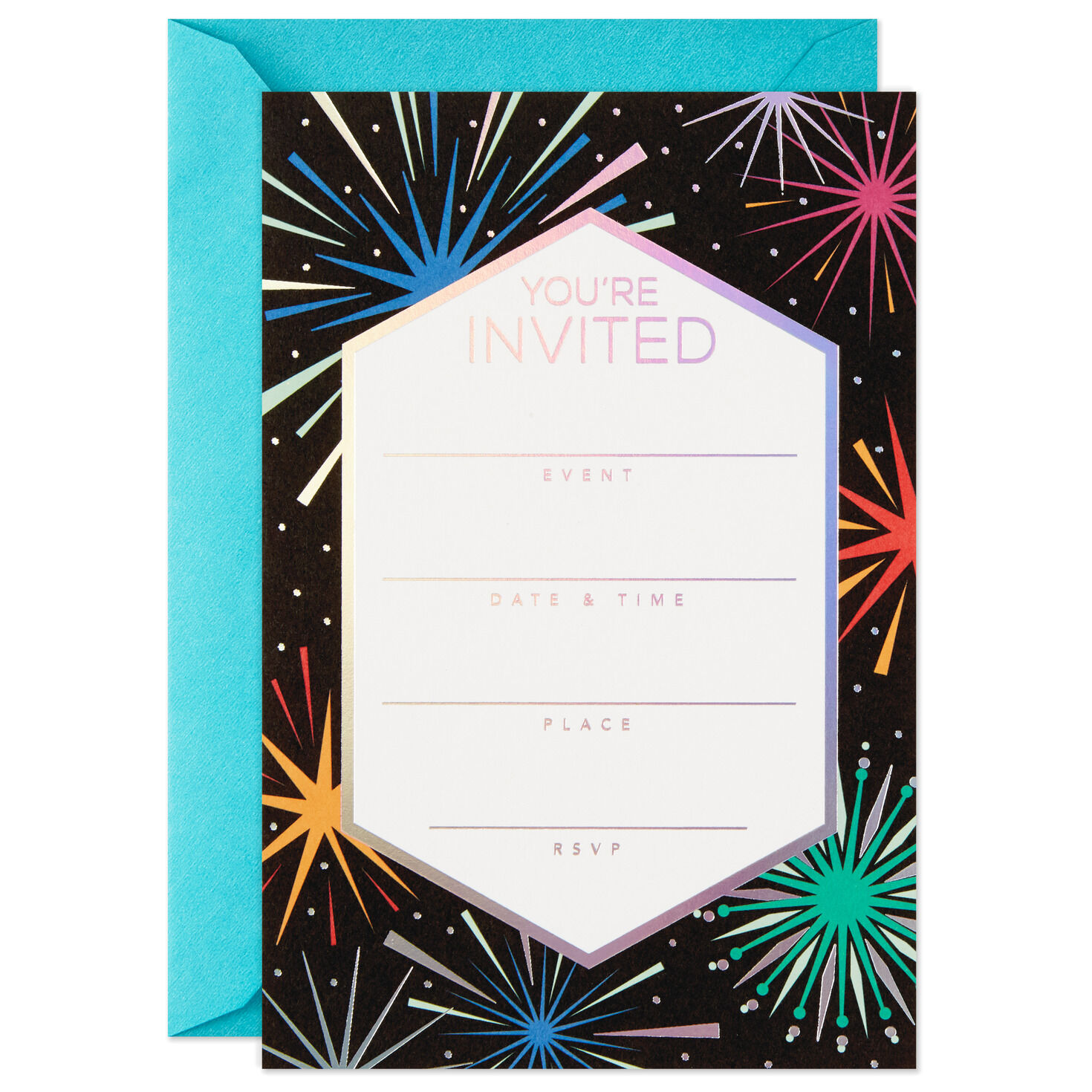 Pack of 10 18th Birthday Invitations Black /& White Flower Pattern