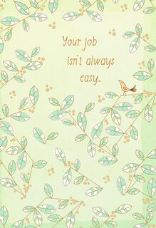 Not an Easy Job Nurses Day Card,