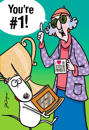 Maxine™ You're #1 Funny Congratulations Card