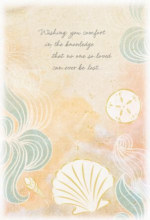 Seashells Wishing You Comfort Sympathy Card