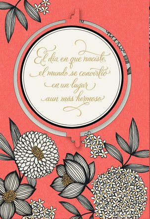 On the Day You Were Born Flowers Spanish-Language Birthday Card