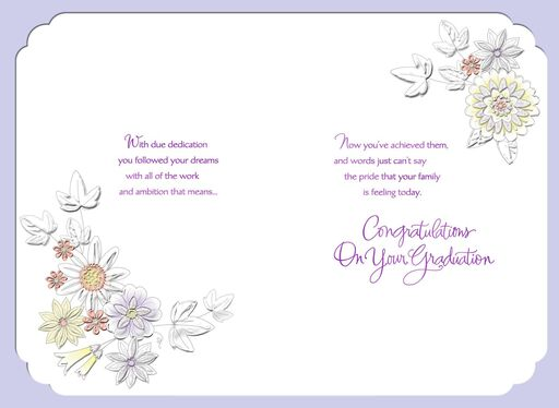 Butterfly Scroll Graduation Card for Granddaughter,