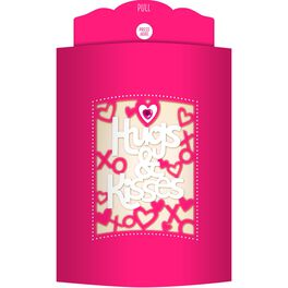 Hugs & Kisses Valentine's Day Song Card With Light, , large