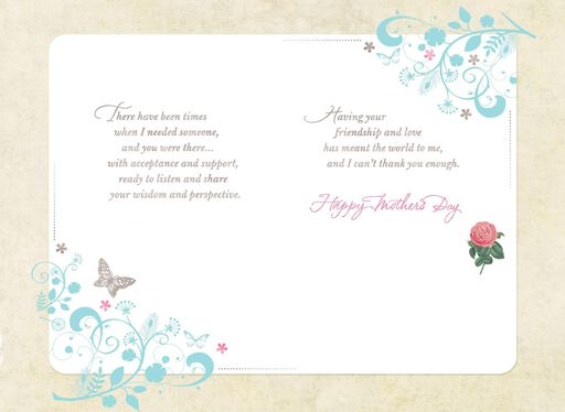 Roses and Butterflies Like a Mom Mother's Day Card,