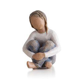 Willow Tree® Spirited Child Figurine (darker hair and skin tone), , large