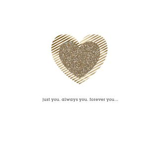 Gold Heart Forever You and Me Anniversary Card,