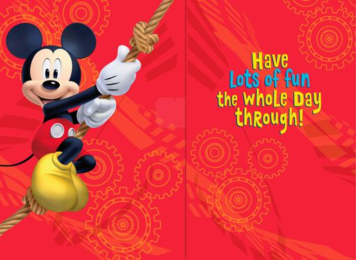 Mickey Mouse Hooray for You Musical Birthday Card,